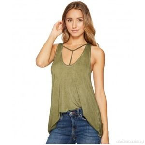Free People Green Tank Top NWT